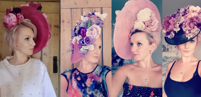 Hats: Jess Collins wearing some of her own designs - Bombini Studio