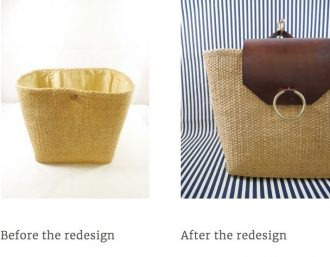 Wicker basket transformed - caring for fashion