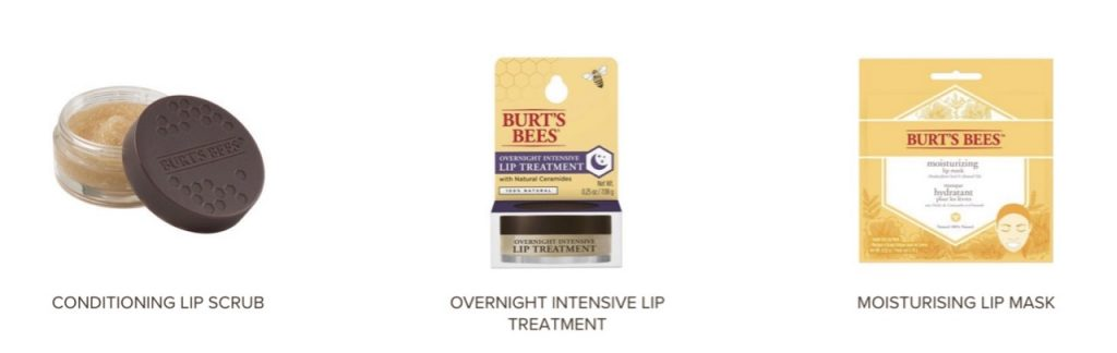 Burt's Bees lip care products