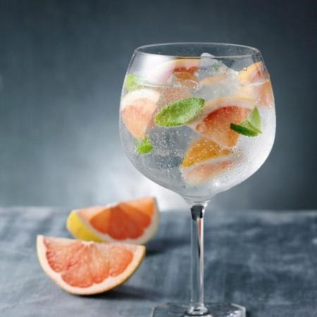 Gin and Tonic With Basil and Grapefruit (Taking G&T To New Heights)
