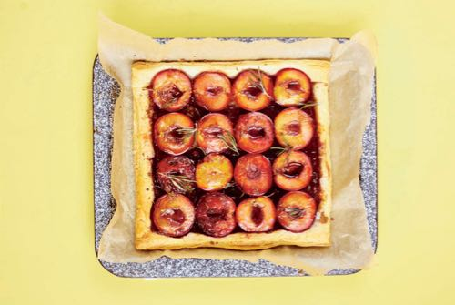 Plum Rosemary Puff Tart