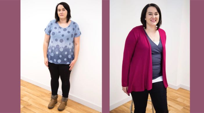 Body Shapes - showing wrong and right styles on Amy