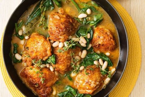 10 Most Popular Recipes of 2018 - Every One A Winner Chicken with spinach and cannellini beans