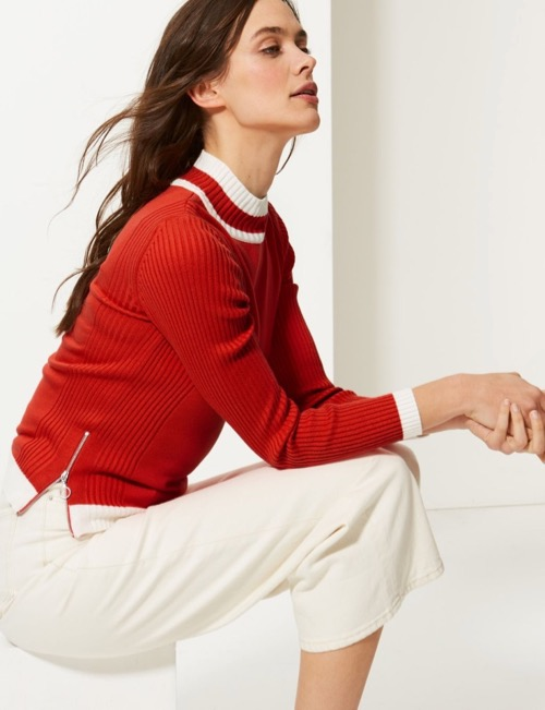 Must-Haves. No, Seriously, You Have To See These Colour Block Jumper from M&S