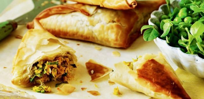 Crab Samosas With Spice Infused Kick But Not Deep Fried