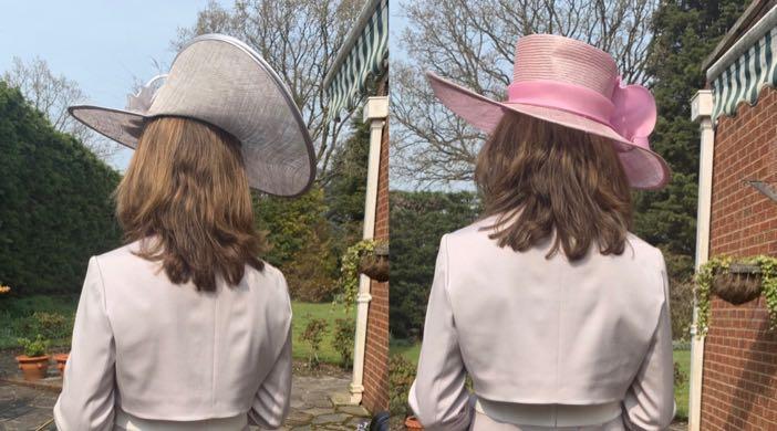 Hat Hire: my girlfriend choosing her hat