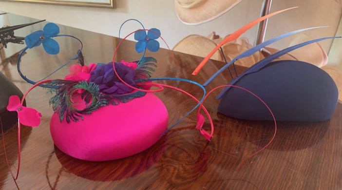 Hat Hire: two of the hats from a young milliner