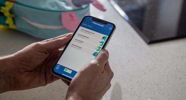 Phamacy2U app on a mobile