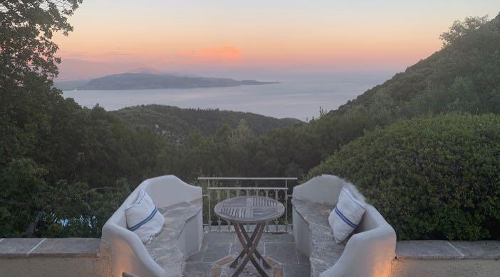 View of Albania from Rou Estate Corfu