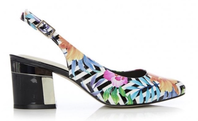 Occasion dressing: MODA IN PELLE Dainelle Floral Patent leather £49.95 Other plain colours available