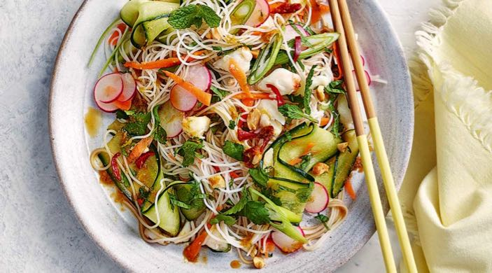 Crab Noodle Salad - Fresh, Hot, Spicy and Sweet