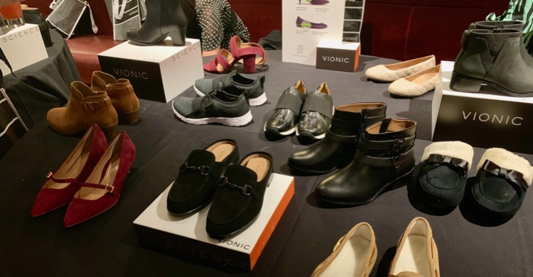 Display of new Autumn Collection 2019 footwear