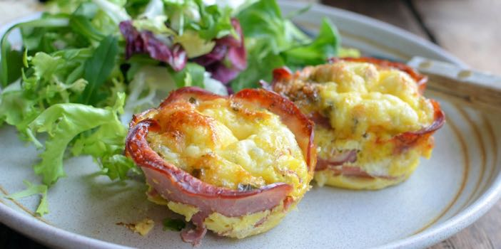 Cheesy Bacon And Egg Muffins