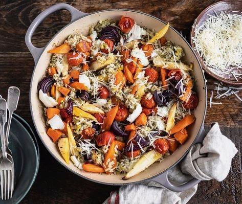 Baked Veg & Mozzarella Risotto