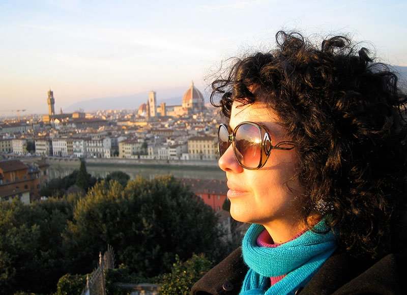 Kamin Mohammadi outside Florence from the post: Life in the Italian Lockdown: where there is adversity there is hope.