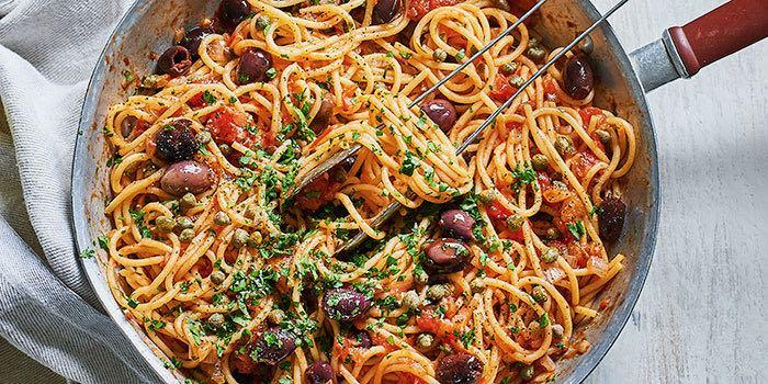 Spaghetti Puttanesca (aka Tart's Spaghetti)