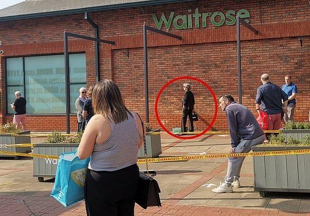 The Social distance queue for Waitrose