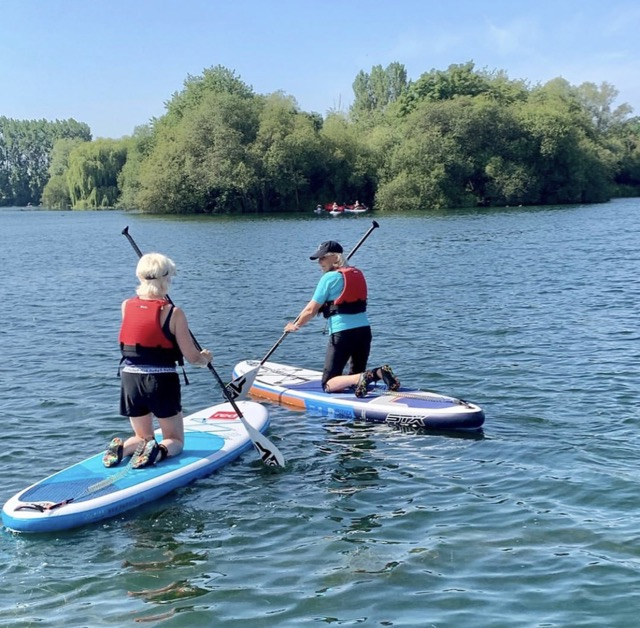 'BELLE' & 'PAGE TURNER' Paddle Boarding. Research for book, How Not To Get Old