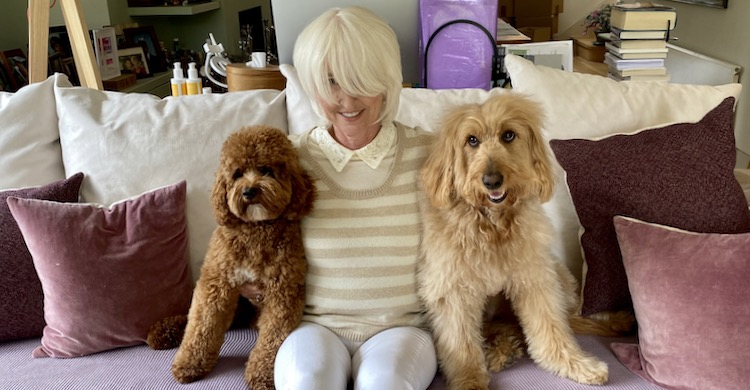 Annabel and her groomed dogs