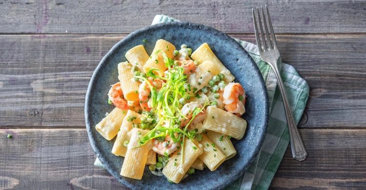 Creamy Prawn Rigatoni - speedy and lipsmackingly delicious