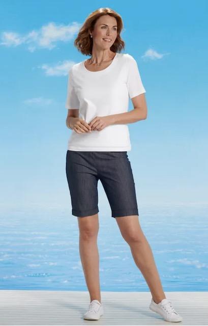 David Nieper stretch denim shorts