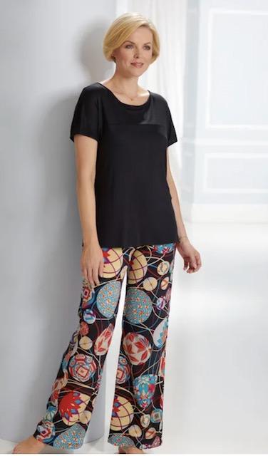 David Nieper silk palazzo pants from post Online Fashion