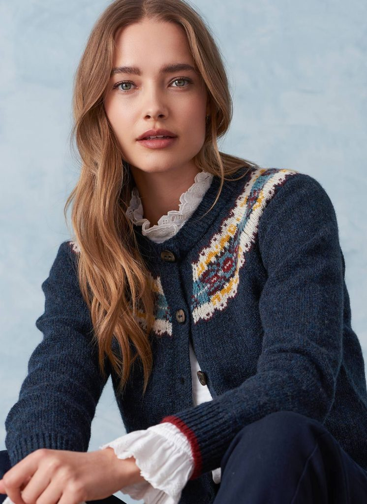 NEW IN: Eight fabulously covetable pieces of Autumnal knitwear Brora Fair Isle cardigan