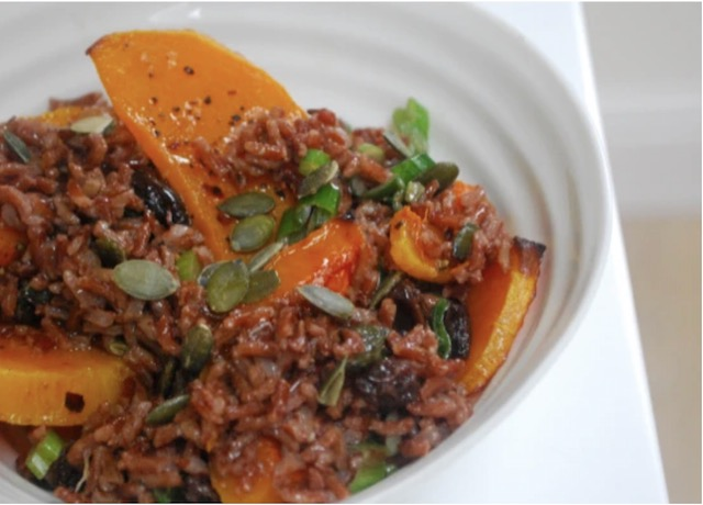 Butternut squash and camargue rice