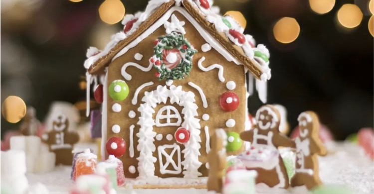 Gingerbread House from post: Online Activities to do with your grandchildren if you can't meet up