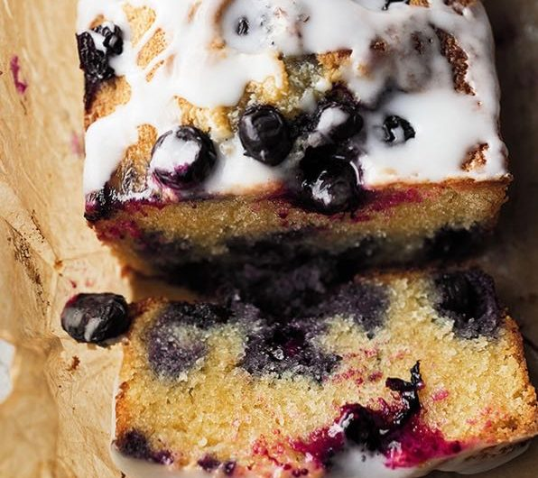 Ottolenghi's deliciously moist Blueberry, Almond & Lemon Cake