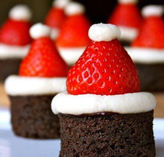 SANTA chocolate brownie HATS
