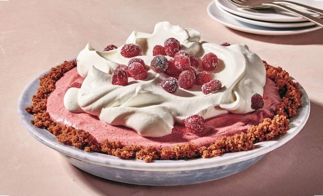 Cranberry-Pomegranate Mousse Pie