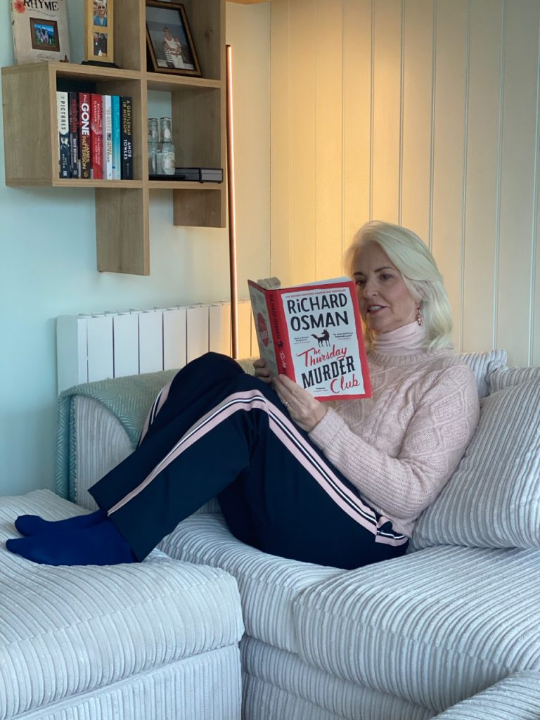 Annabel reading The Thursday Murder Club