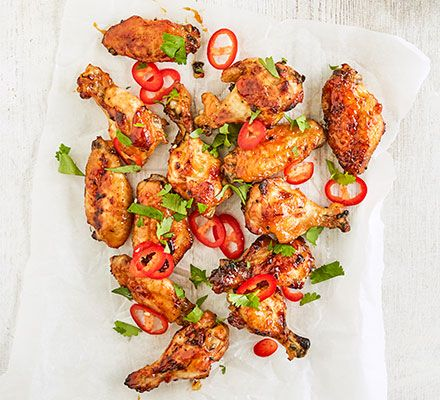 Mango & lime chicken wings
