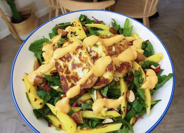 Mango, Halloumi & Almond Salad