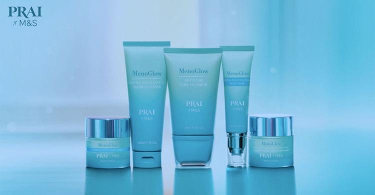 The Prai range of skincare, MenoGlow, specifically for menopausal women