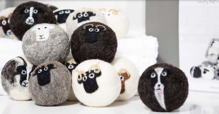 Lifestyle essentials: Laundry dryer balls from Little Beau Sheep