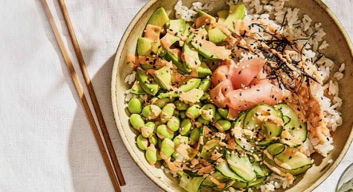 Vegan Sushi Bowl - a fabulously fresh and zingy lunch or supper